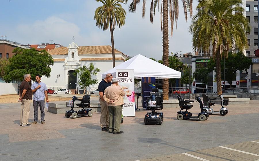 Ortopedia Gordillo expone los últimos modelos de scooters en los Sanicor Power Days