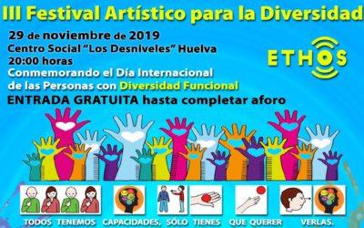 No te pierdas la fiesta inclusiva del III Festival Artístico para la Diversidad, ETHOS